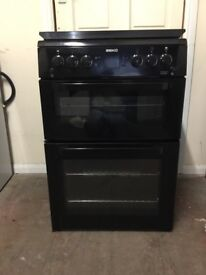 Beko gas cooker BDVG697KP 60cm black FSD double oven 3 months warranty free local delivery!!!!!