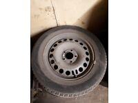 Winter Tyres on Steel Wheel Rims