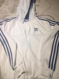 White adidas hooded jacket