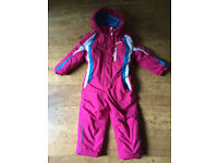 Camprio Girl Ski Suit / Snow Suit size 3-4 years (104 cm) like new