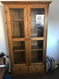 Solid Wood Cabinet, excellent condition.