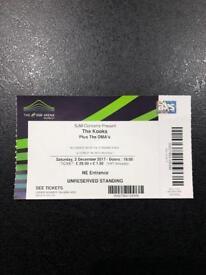 The kooks ticket £30- Wembley - 2nd December 2017
