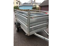 SGM 2m x 1.2m 750kg heavy duty trailer, farm,animal,plant,DIY,etc. Removable sides, spare wheel