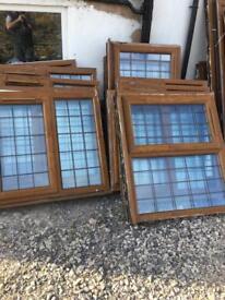 UPVC wood (light oak) effect Windows for sale various sizes.