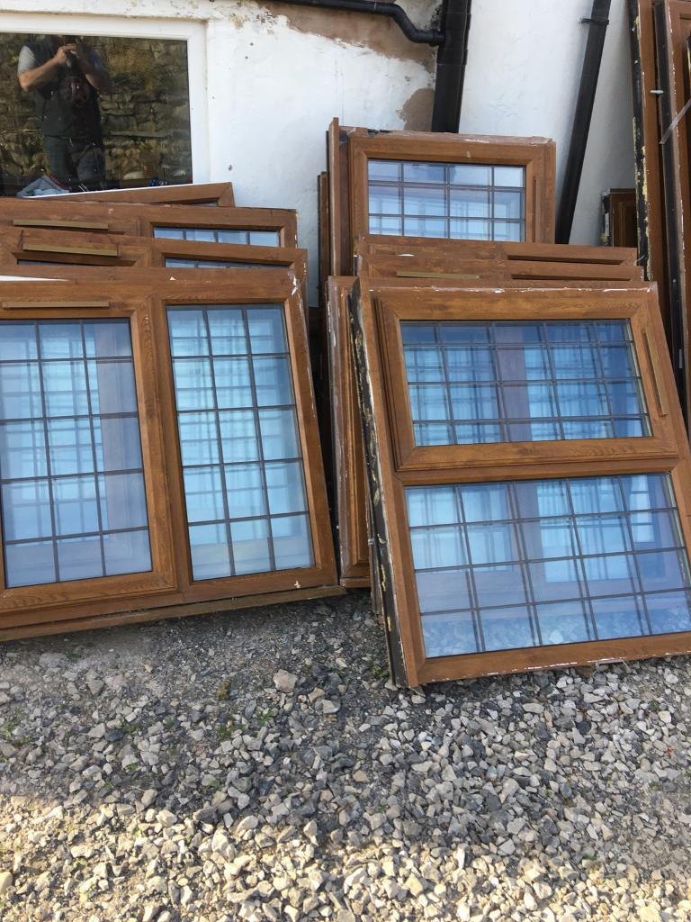 UPVC wood effect Windows and patio doors for sale, various sizes