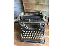 Vintage Underwood Typewriter American Original Old Working