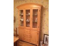 Side table and display cabinet