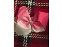 Pink And White Ombre JoJo Bow