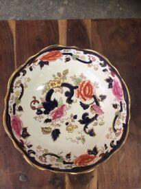 Mason's Ironstone 'Blue Mandalay' Lidded Fruit Bowl