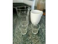 Free shot glasses, glass and mug