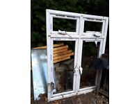Window double glazed, double casement. H167cms x W122cms. Undamaged but needs good clean!