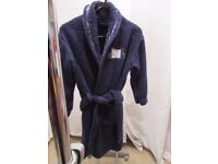 Age 7-8. Boys navy dressing gown from M&S. Worn by 1 child. P&S free home.