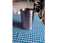 Stainless steel kitchen utensil holder / cutlery drainer