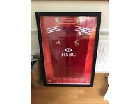 British & Irish Lions Rugby Jersey Signed & FRAMED By 2009 Squad
