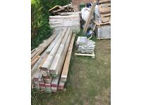Fence posts /timber from 50p
