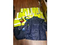 Brand new Hi visibility vests and work equipment