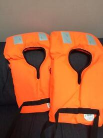 Pair of kids' life vests