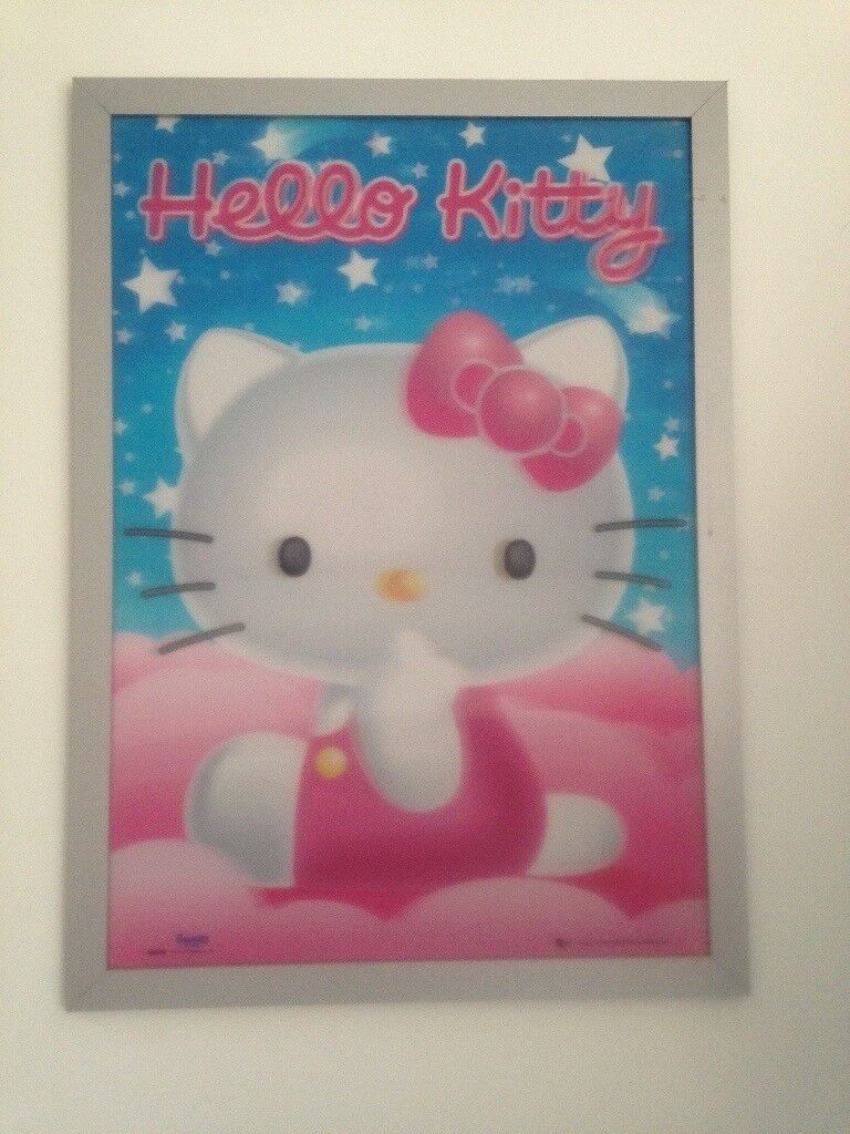 Hello kitty picture in frame