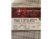 Wales vs South Africa tickets