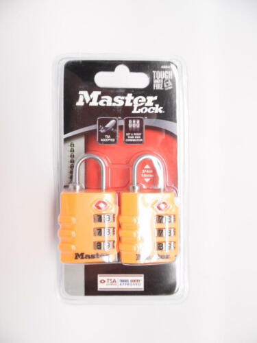 Master Lock 4684T TSA-Accepted Lock, Travel Sentry, Assorted Colors, 2-Pack - $8.97
