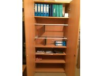 Tall storage and filing cabinet