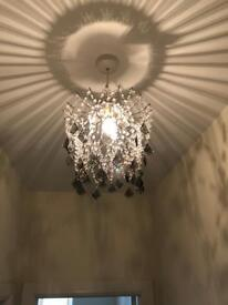 2x small chandeliers