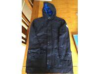 Okaidi Boys dark blue rain zip/popper rain coat