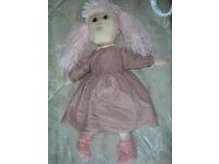Handmade Dressed Rag Doll - Pink 2