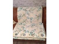 Pair of patterned Bird and floral eyelet curtains