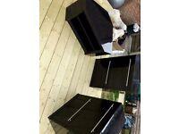 High Gloss Black Corner TV Stand