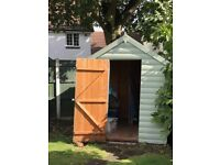 Wooden Garden Shed 6'x8' with glass window
