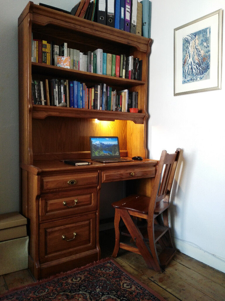 Beautiful Vintage Wooden Writing Computer Study Desk