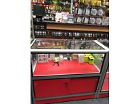 Mobile phone shop glass counter sales display tower