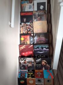 rock record collection 12 lps and 8 singles