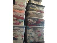 33 boxes of mixed clothes ideal for Carboot