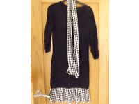 Next Tunic Jumper with Scarf Size 10