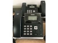 6x Yealink Office Telephones with 4 x Power plugs