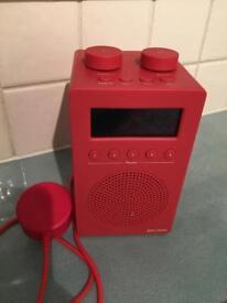 John Lewis red DAB radio