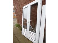 OUTWARD OPENING WHITE UPVC DOUBLE GLAZED FRENCH DOORS