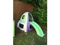 Children's outdoor play centre / slide / den house
