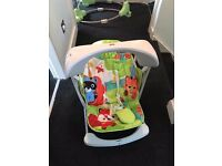 Ex Con Fisher price woodland friends take along swing