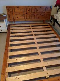 Wooden bed base 5ft