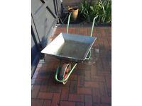 Small wheelbarrow with hard wheel