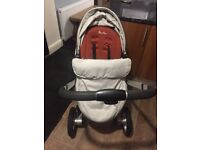 Silver cross pram with accessories.. suitable from birth onwards