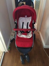 Mothercare Pushchair Travel System - Red