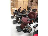 NEW HEAVY DUTY MAROON & BLACK BARBER CHAIR BX-2696,CASH ON COLLECTION ONLY new