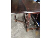Solid Wood Gate leg Table & 4 Chairs