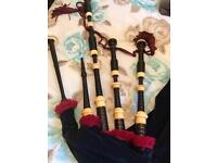 Very old set of peter Henderson bagpipes