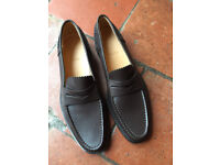 Bally Brown Calf Leather Ladies Loafers Size 6 1/2 (40)