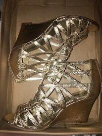 Gold Wedged Heels